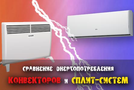 Сравнение энергопотребления конвекторов исплит-систем